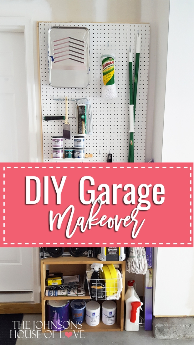 DIY Garage Makeover - Use pegboard from Home Depot to organize your garage!
