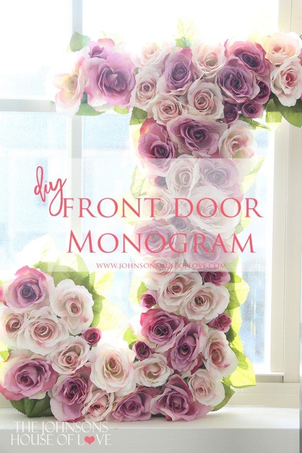 DIY Monogram Front Door Initial Wreath - Add some diy decor creativity for the front of your home as one of the first things visitors will see! Great for Spring, Summer, Fall and Winter!